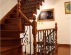 上海别墅楼梯案例 组装铁艺栏杆实木楼梯 品家楼梯定制整木制品