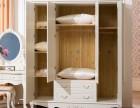 家具欧式衣柜实木卧室三门衣柜木质整体法式白色衣柜