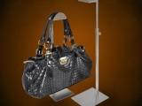 不锈钢拉丝挂包架 高度可调包包陈列道具 箱包店展示道具供应