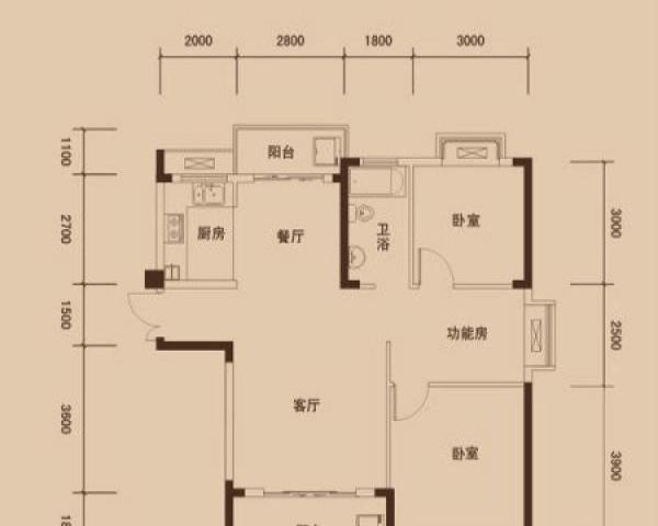 江南都市花园租房 3室2厅家具家电全带