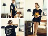 【厂家直销】韩国东大门代购咖啡猫韩版BF女装纯棉短袖T恤
