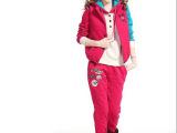 2014新款冬季套装米奇烫钻贴标拼色高品质加厚卫衣3件套套装