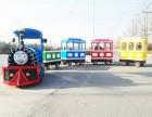 大型广场户外豪华儿童电动仿古轨道小火车游乐设备