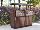 郑州钢木结合垃圾桶厂家直销总代