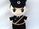 深圳厂家卡通警察公仔来图定制惊爆价 警察人偶毛绒玩具来图打样