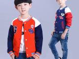 厂家直销儿童男外套夹克男童棒球服童卫衣男青岛外贸原单童装批发