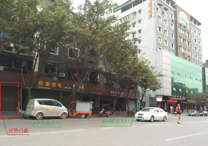 璧山主干道临街门面出租/商铺出租/(无转让费)