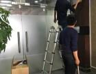 上海静安区江宁路无框玻璃门维修安装 更换门夹