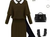 2014秋冬新品欧美长款蝙蝠袖打底针织衫 长袖连衣针织裙毛衣批发