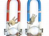 正品玛锁具7241摩托车前叉专用锁 骑士车用防盗锁钥玛u型锁插锁