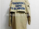 秋季新版 韩国代购款后背字母可拆宽松西装风衣外套 女
