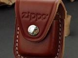 美国原装正品芝宝/ZIPPO   专用棕色皮套 铁扣/皮扣  真