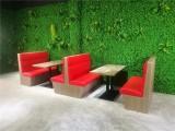 汕头龙湖卡座沙发厂家定做,西餐厅软包实木椅子实木桌厂家定做