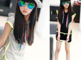 童装夏运动套装2015夏季韩版女童短袖套装中大童短裤套装一件起批