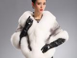 月如雪进口本色水貂十字貂披肩 超大狐狸毛SAGA整貂裘皮短款外套