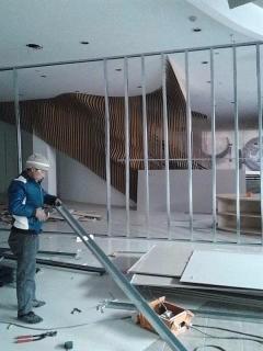 专业办公室打隔断 高级隔音棉隔断 做玻璃隔断 石膏板隔断