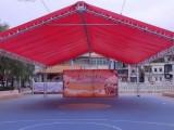 高明庆典铝架帐篷桁架背景招聘会帐篷吧台吧椅贵宾椅铁马隔离带