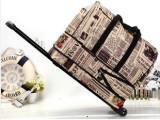 大容量复古拉杆行李箱包 牛津布手提旅行包女拉杆包软行李袋代理