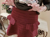 2014韩国秋冬女装新款 最新女装 2E家孔孝真同款修身半身裙