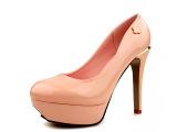 【淘工厂】温州品牌女鞋2015 高跟女鞋批发厂家花朵亮片低帮春鞋