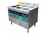 厨鑫厨房设备专业供应煲仔炉-六头煲仔炉带靠背