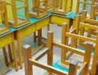 全实木双人课桌椅
