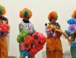 小丑气球派送,高跷小丑,魔术小丑,卡通人偶气球装饰