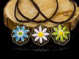 景德镇手工创意陶瓷项链  复古雪花项链
