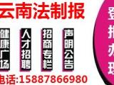 云南法制报遗失公告登报地址电话多少158一8786一6980