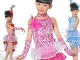女童拉丁舞服装拉丁舞裙女儿童拉丁舞服装新款女童演出服装亮片裙