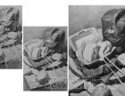 静物素描步骤图解,湛江专业画室湛江光国画室课堂示范作品