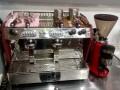 双头高档智能咖啡机+咖啡研磨机成套设备转让