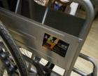 友鹏加厚钢管四刹轮椅折叠轻便老人带坐便轮椅车