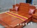 实木双人床带床头柜抽屉1.8米中式雕花