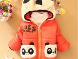 一件代发2014新款卡通熊猫带帽男女童装宝宝儿童长袖棉袄棉服A3