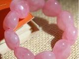 进口纯天然心形粉晶手串 招桃花运的水晶手链