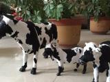 仿真小奶牛模型 奶吧装饰摆件 手工工艺品