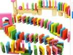 特价120片小虎趣味多米诺骨牌/ 宝宝木制积木儿童玩具益智 3-7岁