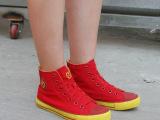 2双起批2014秋款女帆布鞋 19糖果色女单鞋板鞋 休闲帆布女鞋