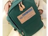 2014新款学生双肩包韩版潮包帆布男女式旅行背包书包批发一件代发