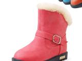 2013冬季新款韩版女童经典款长毛绒保暖儿童雪地靴 童鞋 T12