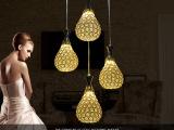 新款特价时尚 LED贴片铁艺吊灯 卧室灯简约餐吊灯 客厅灯灯具批