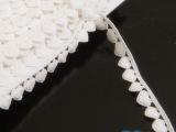 B-3现货爱心形全纯棉水溶棉蕾丝刺绣花边