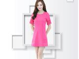 N2B33-7034#2014夏装热卖新款韩版修身烧花显瘦短袖连