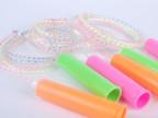 彩色塑料跳绳 幼儿园小学生户外 体育用品 六一礼物 地摊热卖批发