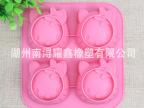 4连kitty硅胶手工皂模 蛋糕模 diy烘焙工具 FDA质量 silicone