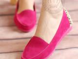 爆款2013女士春新款韩版豆豆鞋女磨砂皮平跟单鞋欧美平底鞋开车鞋