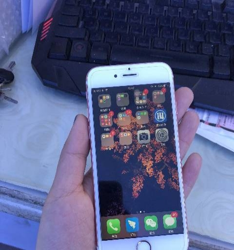 朋友一手自用的苹果6S 玫瑰金 64G