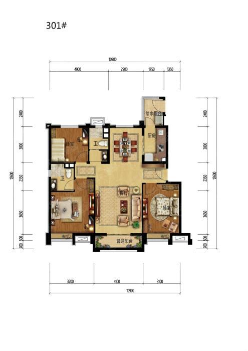 邢台 碧桂园 3室 2厅 117平米 出售
