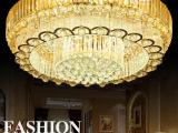 【斯内普灯饰】S金色客厅灯LED吸顶灯水晶灯圆形工程客厅卧室灯具